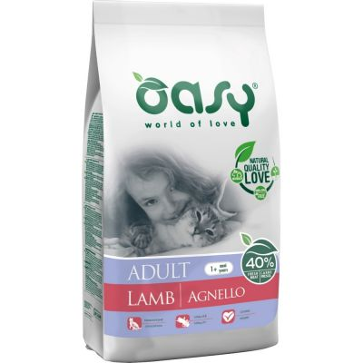 Oasy dry cat adult agnello