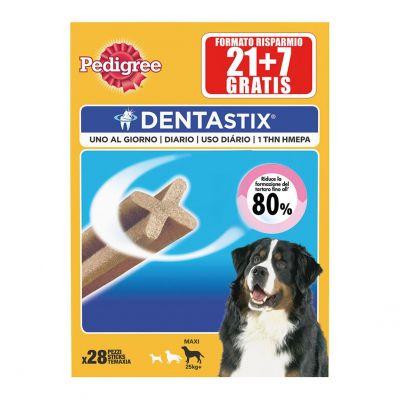 Pedigree snack per cani dentastix maxi pz. 21+7