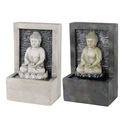 Fontana in plastica con buddha