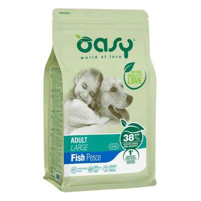Oasy dry dog adult lg pesce