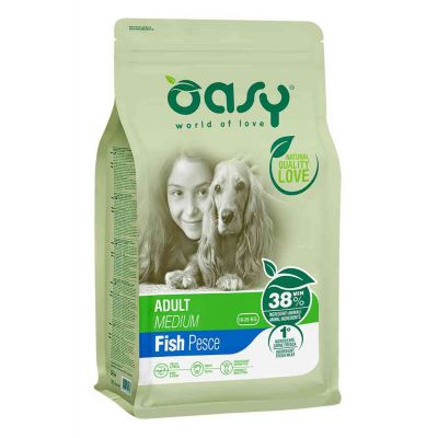 Oasy dry dog adult md pesce
