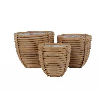 Vaso rattan cm. 17x1715