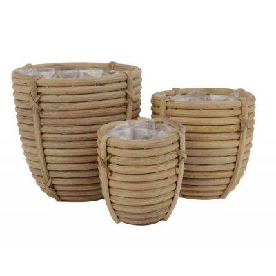 Vaso rattan cm. 8x8x7,5