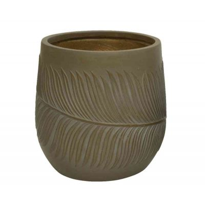 Vaso fibre clay cm. 21,5x21,5