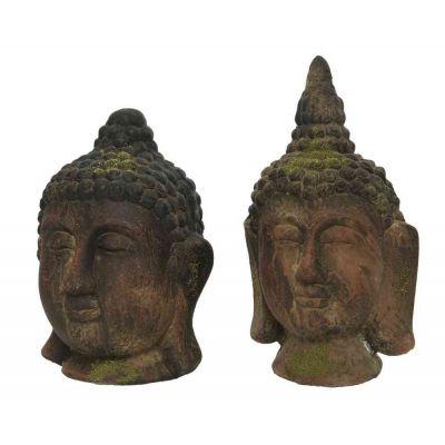 Pol magn buddha head 2ass 18.5x18.5x27cm 16x17.3x31cm