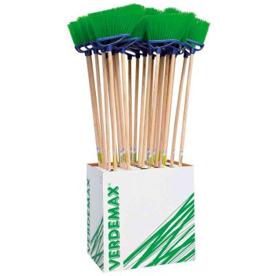 Kit scopa con manico fibra