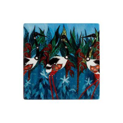 Sottobicchiere di Melanie Hava - Jabirus Blue