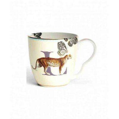 Alphabet mug  leopard