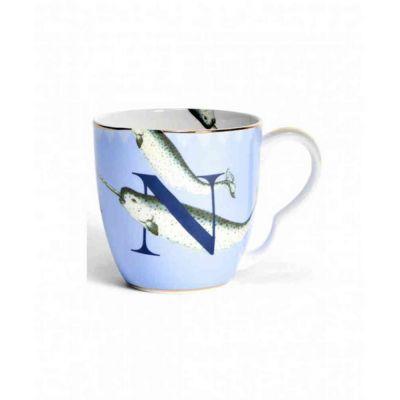 Alphabet mug  narwhal