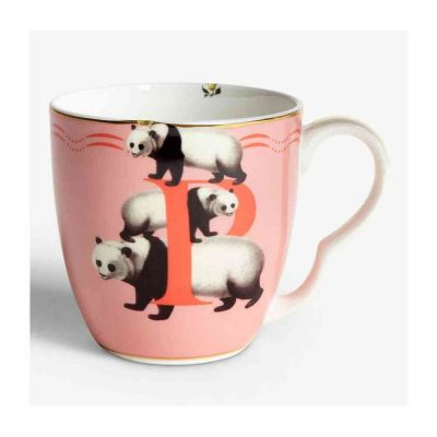 Alphabet mug panda