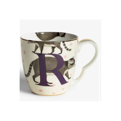 Alphabet mug racoon