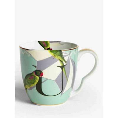 Alphabet mug umbrella bird