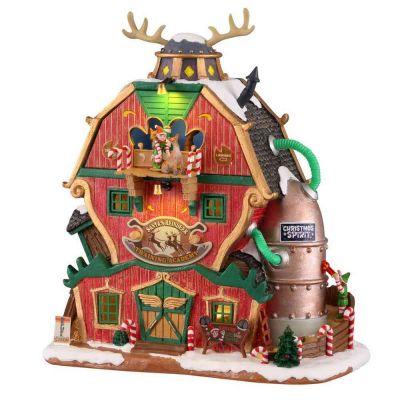 Santa's reindeer training Lemax scuola per renne 15793