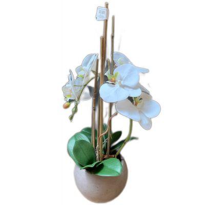 Vaso phalaenopsis 1 ramo artificiale