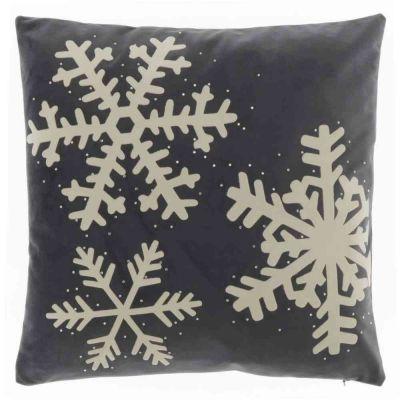 Cuscino snowflake  dark grey