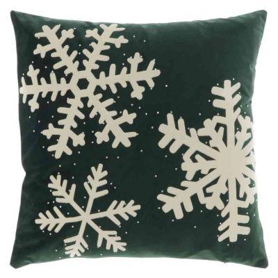 Cuscino snowflake dark green