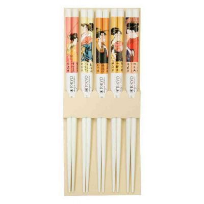 Chopstick giftbox geisha white