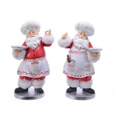 Santa santa serving Piatto addobbi