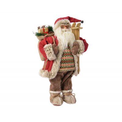 Santa in poliestere country style addobbi