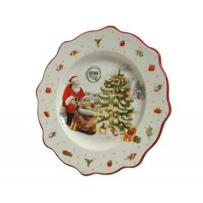 Piatto dolomite santadecoratio cucina natale Ø 20,30-H2 cm