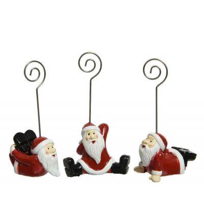 Segnaposto Babbo Natale 3 assortiti cucina natale