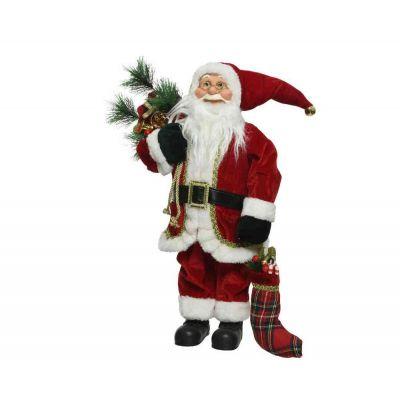 Santa in poliestere classic style addobbi