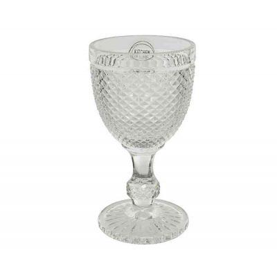 Bicchiere da vino in vetro brillante piccolo cucina natale Ø 9-H17 cm