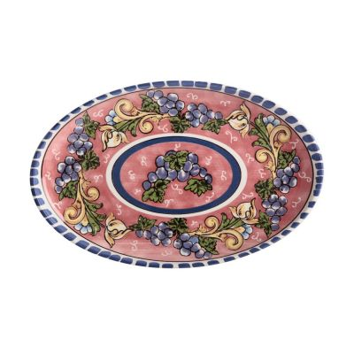 Piatto ovale Salerno uva