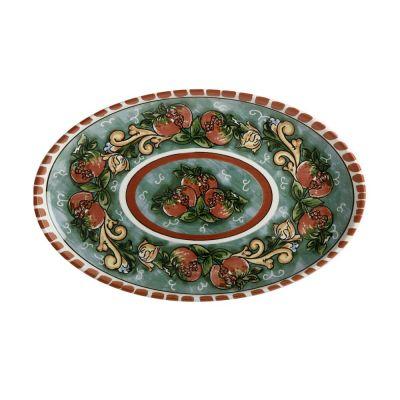 Piatto ovale Salerno melograni