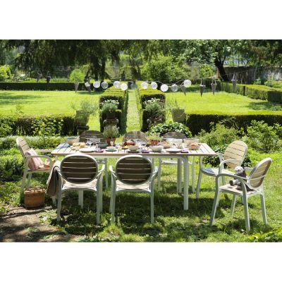 Alloro Set Tavolo estensibile 140/210cm + 6 sedie Palma