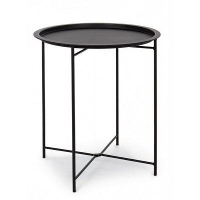 Tavolino waissant nero con vassoio cm. 46xh52