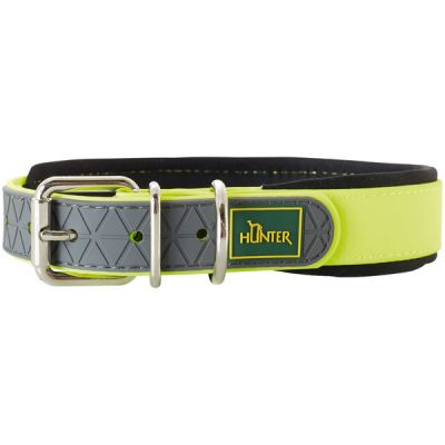 Collare cani hunter 55 cm neon yellow