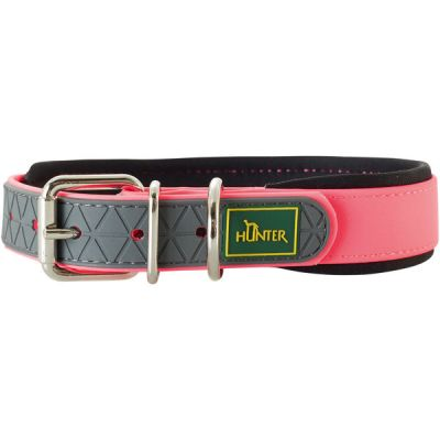 Collare cani hunter 65 cm neon pink