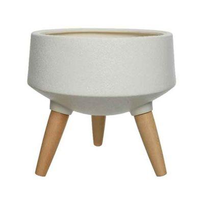 Vaso in cemento con gambe 26 cm