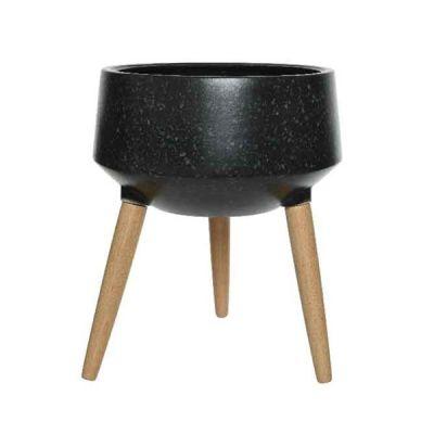 Vaso in cemento con gambe 45 cm