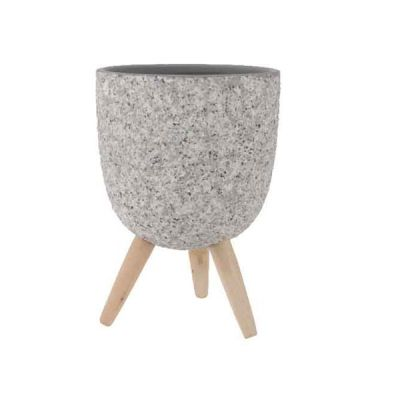 Vaso in cemento con gambe 21 cm