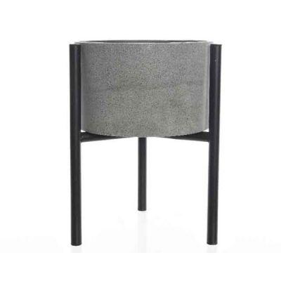 Vaso in cemento con stand 27 cm