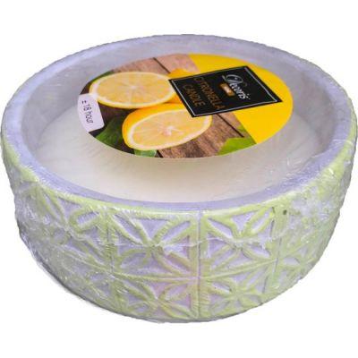 Citron wax in cement pot 3cls