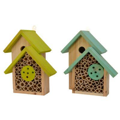 Casetta per insetti e uccelli colore assortito
