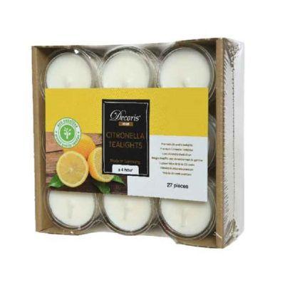 Citronella antizanzare tealights 27 pezzi