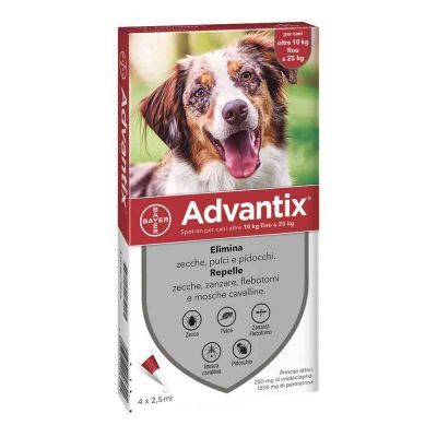 Advantix spot on 10 - 25 kg antiparassitario per cane
