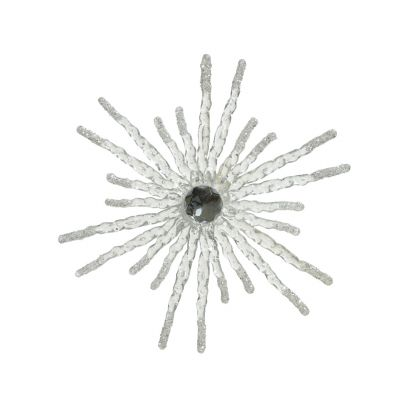 Plc snowflake w glitter w bead