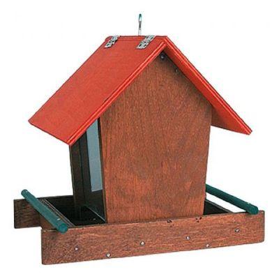Casetta per uccelli modello oslo con dispenser semi 17x21x19,5 cm