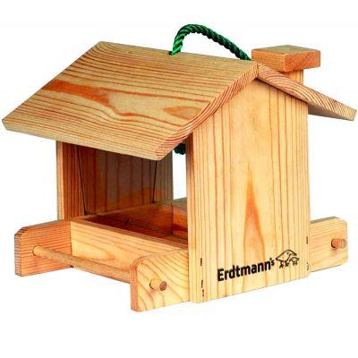 Casetta per uccelli con deposito semi da 22x20x18 cm
