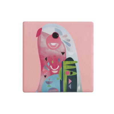 Sottobicchiere in ceramica Pappagallo Pete Cromer