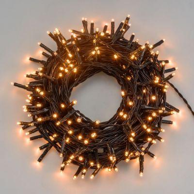 Luci per albero di Natale 1000 mini led bianco caldo 75 metri