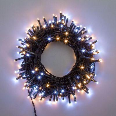 Luci per albero di Natale 360 Mini-led bianco caldo e freddo 30 metri