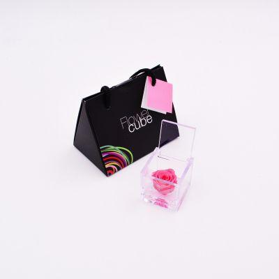 Mini Flowercube | Rosa stabilizzata rosa