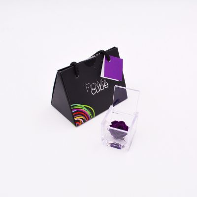 Mini Flowercube | Rosa stabilizzata viola