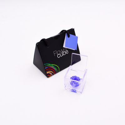 Mini Flowercube | Rosa stabilizzata azzurra